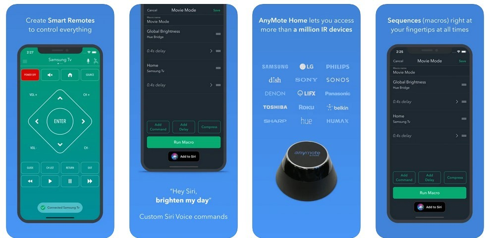 AnyMote Smart Universal Remote  (App Store)