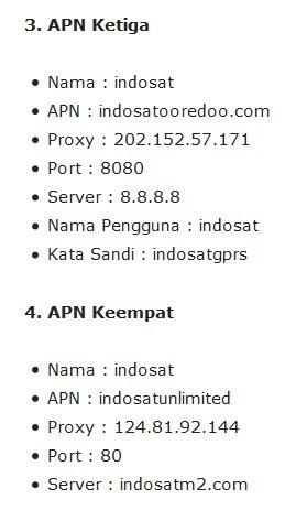 Pengaturan APN Tercepat INDOSAT Internet 4G UNLIMITED