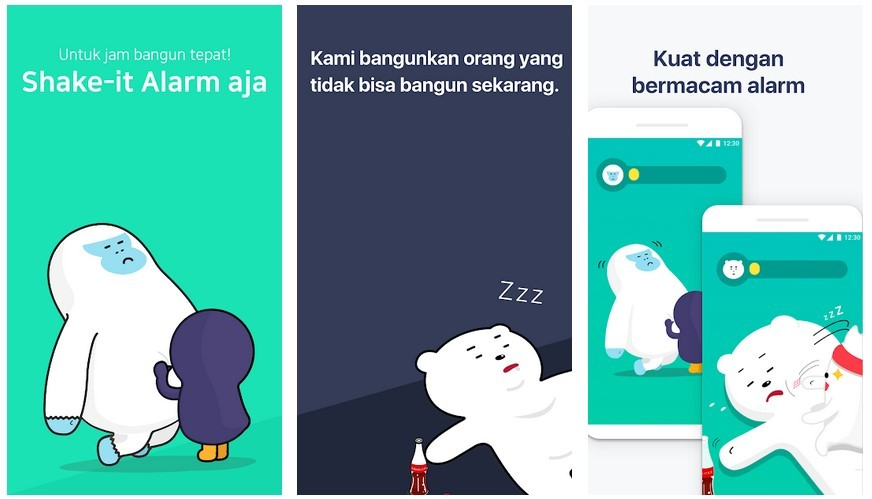 Aplikasi Shake-it Alarm (Play Store)