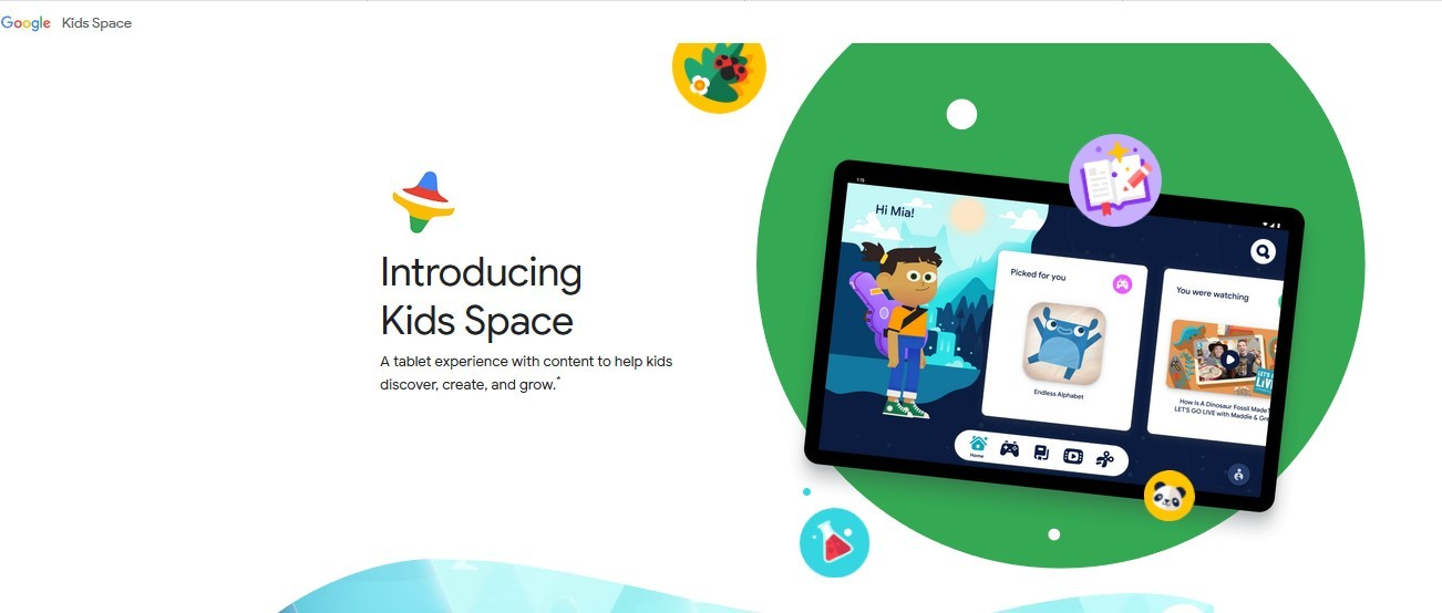Google Kids Space tampilan website (Families.Google)