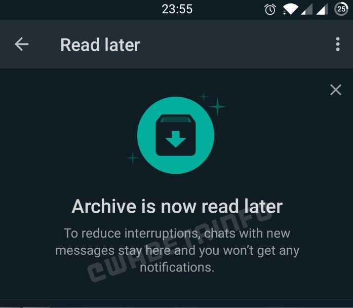WhatsApp Read Later (WABetaInfo)