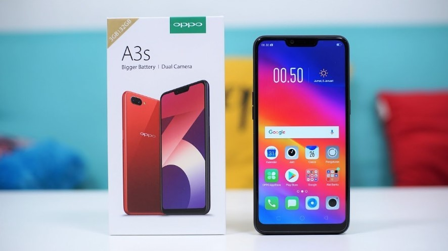 OPPO A3S (YouTube)