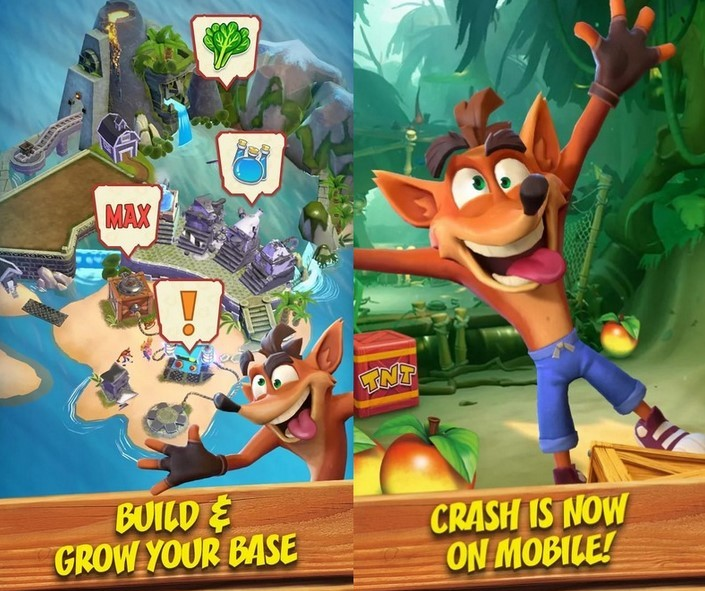 Gameplay game Crash Bandicoot (Kotaku)