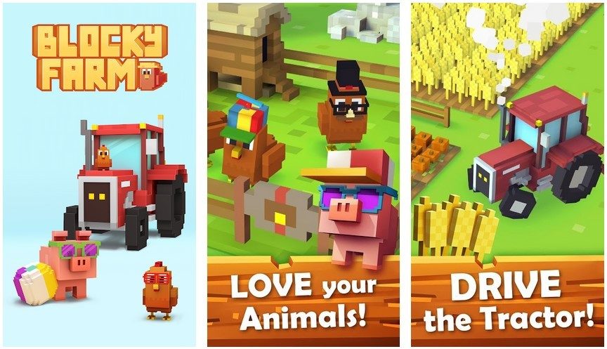 Game Blocky Farm (Play Store)